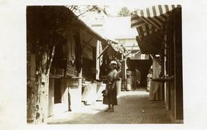 Belgium Brussels World Fair Arab Market Souk Rugs Tunisia Old Photo RPPC 1935