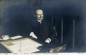France Paris La Sorbonne Professor Schirmer Geography Real Photo Postcard 1920
