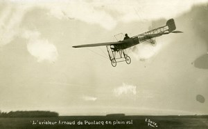 France Bordeaux Aviation Arnaud de Pontac flight Real Photo Postcard Seitz 1911