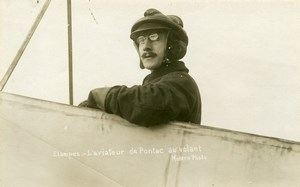 France Etampes Aviation Arnaud de Pontac Real Photo Postcard Seitz 1911
