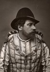 France Opera Singer Tenor Caron in les Huguenots Old Photo Gougenheim 1875