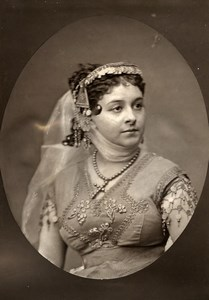 France Theater Stage Actress Celine Montaland Woodburytype Photo Quinet 1875