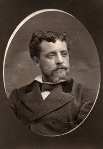 France Opera Singer Tenor Capoul Old Woodburytype Photo Liebert 1875