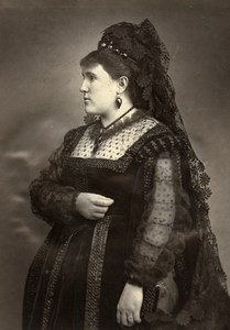 France Opera Singer Virginie Krauss in Don Giovanni Old Photo Liebert 1875