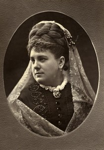 France Opera Singer Basso Cantante Marie Belval Woodburytype Photo Liebert 1875