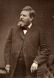 France Political Eugene Spuller Old Woodburytype Photo Carjat 1875