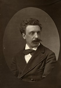France Composer Victorin Joncieres Old Woodburytype Photo Liebert 1875