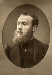 France Painter Jean Paul Laurens Old Woodburytype Photo Mulnier 1875