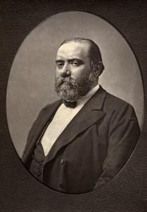 France Author Francisque Sarcey Old Woodburytype Photo Frank 1875