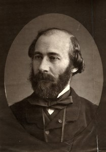 France Author Octave Feuillet Old Woodburytype Photo Frank 1875