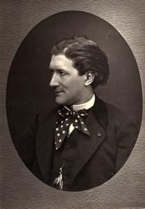 France Author Victorien Sardou Old Woodburytype Photo Mulnier 1875