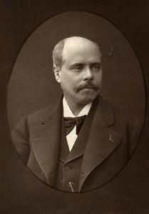 France Author Adolphe Belot Old Woodburytype Photo Mulnier 1875