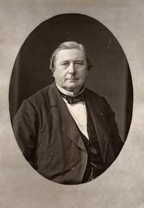France Author Eugene Labiche Old Woodburytype Photo Nadar 1875