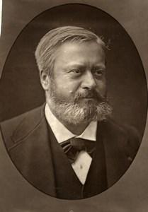 France Author Edmond About Old Woodburytype Photo Nadar 1875