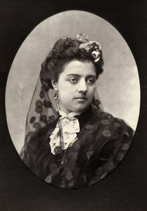 Comedie Francaise Actress Blanche Boissart aka Bianca Old Photo Mulnier 1875