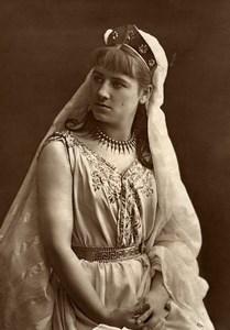 France Comedie Francaise Actress Adeline Dudlay Woodburytype Photo Nadar 1875