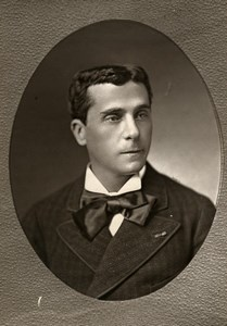 France Theater Stage Actor Gustave Worms Old Woodburytype Photo Liebert 1875