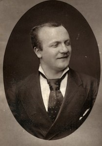 France Theater Stage Actor Leon Fusier Old Woodburytype Photo Mulnier 1875