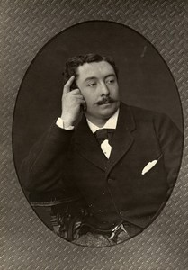 France Theater Stage Actor Charles Masset Old Woodburytype Photo Mulnier 1875