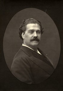 France Theater Stage Actor Ernesto Rossi Old Woodburytype Photo Mulnier 1875