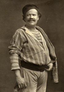 France Theater Stage Actor Gil Naza in l'Assommoir Woodburytype Photo Nadar 1875