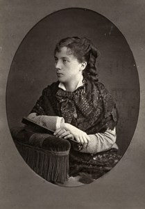 France Theater Stage Actress Delia Lenormant Old Woodburytype Photo Dagron 1875
