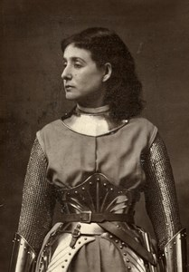 France Theater Stage Actress Lia Felix in Joan of Arch Old Photo Mayer 1875