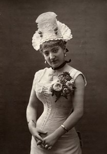 France Theater Stage Actress Noemie Vernon Old Woodburytype Photo Charles 1875