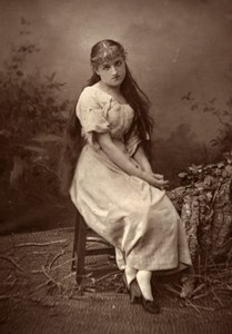 France Theater Stage Actress Miss Lecomte Old Woodburytype Photo Melandri 1875
