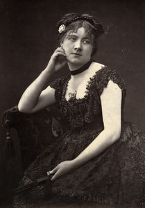 France Theater Stage Actress Isabelle Persoons Woodburytype Photo Mulnier 1875
