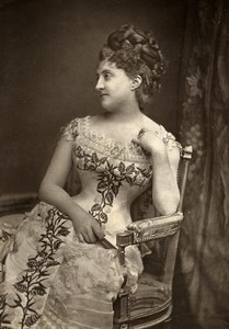France Theater Stage Actress Louise Massin Old Woodburytype Photo Tourtin 1875