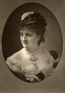 France Theater Stage Actress Helene Monnier Old Woodburytype Photo Tourtin 1875