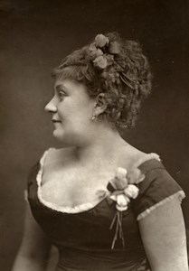 France Theater Stage Actress Anna Morel Old Woodburytype Photo Nadar 1875