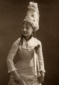 France Theater Stage Actress Juliette Girard Old Woodburytype Photo Nadar 1875