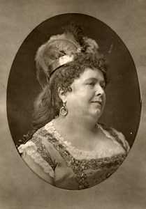France Theater Stage Actress Aline Duval Old Woodburytype Photo Nadar 1875