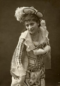 France Theater Stage Actress Jane Hading Old Woodburytype Photo Nadar 1875