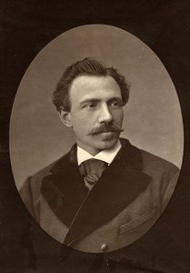 France Opera Singer Adolphe Duchesne Old Woodburytype Photo Mulnier 1875