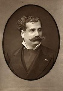 France Opera Singer Baritone Pandolfini Old Woodburytype Photo Mulnier 1875