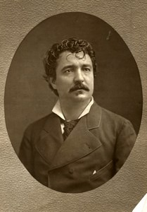 France Opera Singer Angelo Masini Old Woodburytype Photo Mulnier 1875