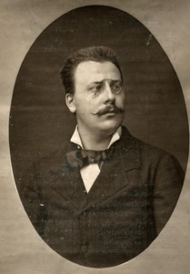 France Opera Singer Eugene Lorrain Old Woodburytype Photo Mulnier 1875