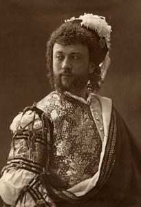 France Opera Singer Tenor Lherie Old Woodburytype Photo Nadar 1875