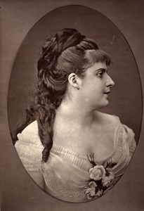 France Opera Singer Amelie Rey Old Woodburytype Photo Dagron 1875