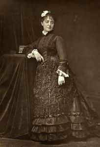 France Opera Singer Zina Dalti Old Woodburytype Photo Tourtin 1875