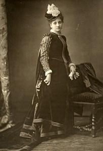 France Opera Singer Miss Bilbaut Vaudelet Old Woodburytype Photo Tourtin 1875