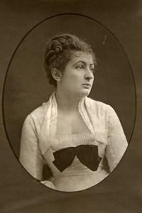 France Opera Singer Helene Chevrier Old Woodburytype Photo Liebert 1875