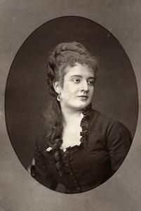 France Opera Singer Mezzo Soprano Edith Ploux Woodburytype Photo Mulnier 1875