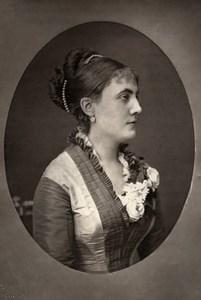 France Opera Singer Soprano Julia Reine Old Woodburytype Photo Mulnier 1875