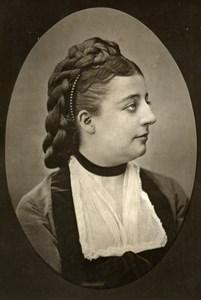 France Opera Singer Gabrielle Moisset Old Woodburytype Photo Mulnier 1875