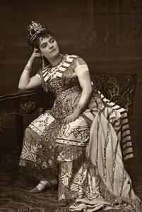 France Opera Singer Helena Sanz Old Woodburytype Photo Mulnier 1875