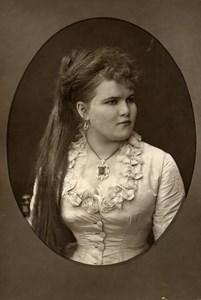 France Opera Singer Soprano Teresina Singer Old Woodburytype Photo Mulnier 1875